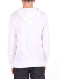 LACOSTE LIGHT-WEIGHT PULL-OVER HOODY IN WHITE  - 3