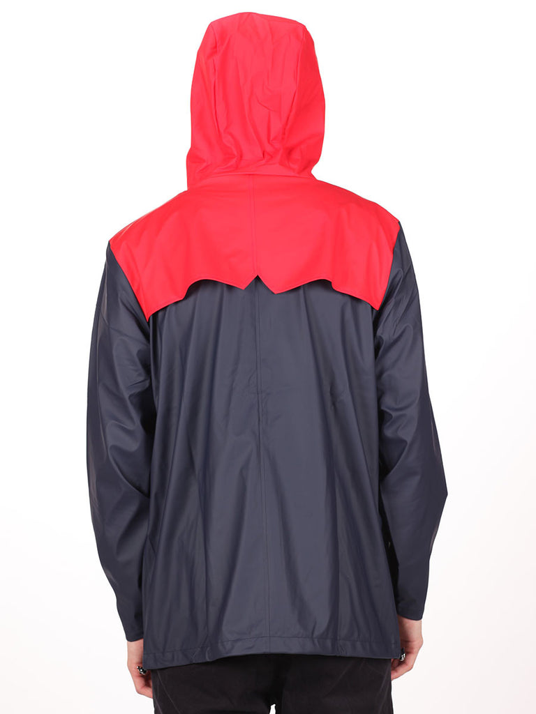 RAINS X LE FIX BREAKER JACKET IN RED/BEIGE/NAVY  - 3