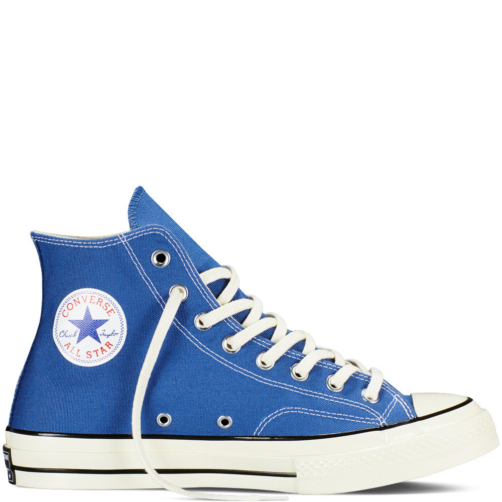 CONVERSE CHUCK TAYLOR ALL STAR '70 HIGH-TOP IN VINTAGE CANVAS IN TRUE NAVY  - 1