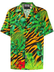 VERSACE JEANS COUTURE JUNGLE SHORT-SLEEVE SHIRT