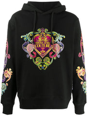 VERSACE JEANS COUTURE HEART PRINT HOODIE