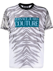 VERSACE JEANS COUTURE SHEER TIGER PRINT T-SHIRT