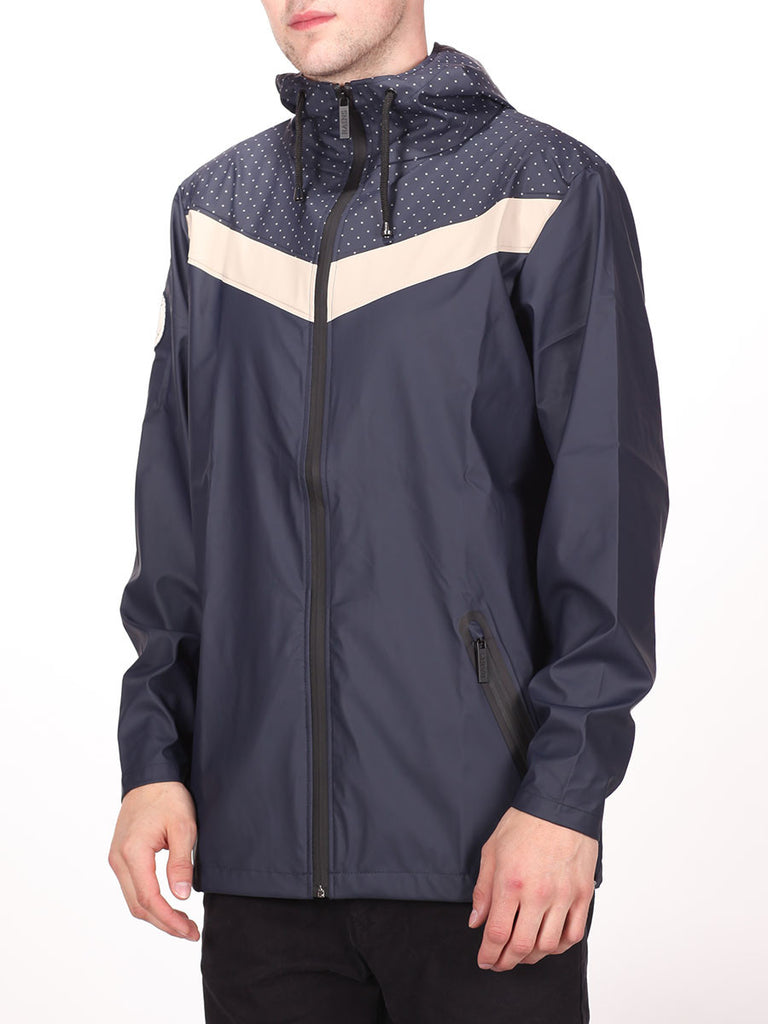 RAINS X LE FIX BREAKER JACKET IN DOTS/BEIGE/NAVY  - 2