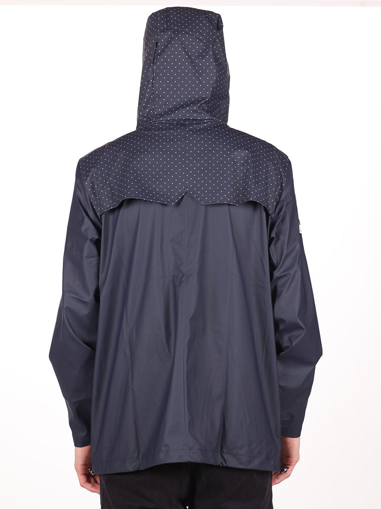 RAINS X LE FIX BREAKER JACKET IN DOTS/BEIGE/NAVY  - 3