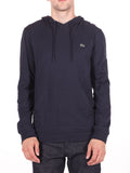 LACOSTE LIGHT-WEIGHT PULL-OVER HOODY IN NAVY  - 1