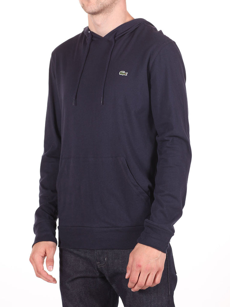 LACOSTE LIGHT-WEIGHT PULL-OVER HOODY IN NAVY  - 2
