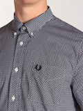 FRED PERRY CLASSIC GINGHAM SHIRT IN BLACK  - 6