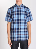 FRED PERRY BOLD CHECK SHIRT IN GLACIER  - 1