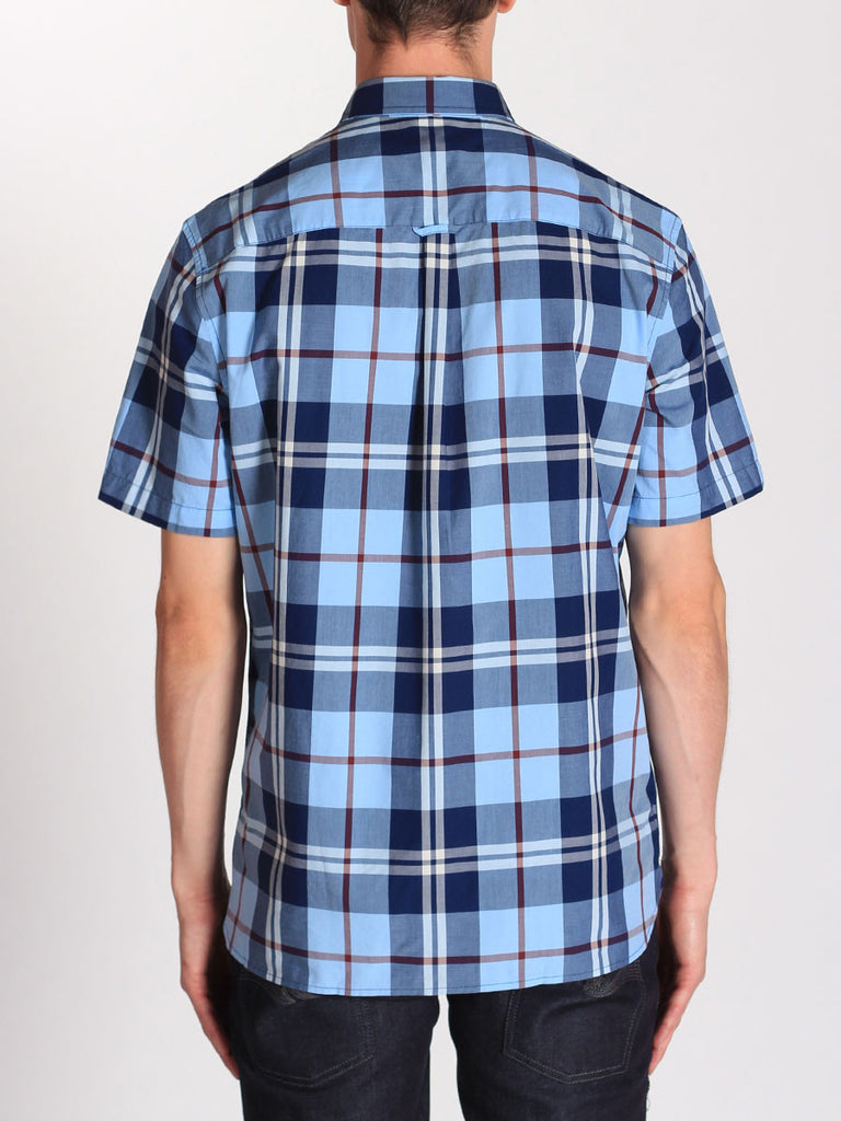 FRED PERRY BOLD CHECK SHIRT IN GLACIER  - 3