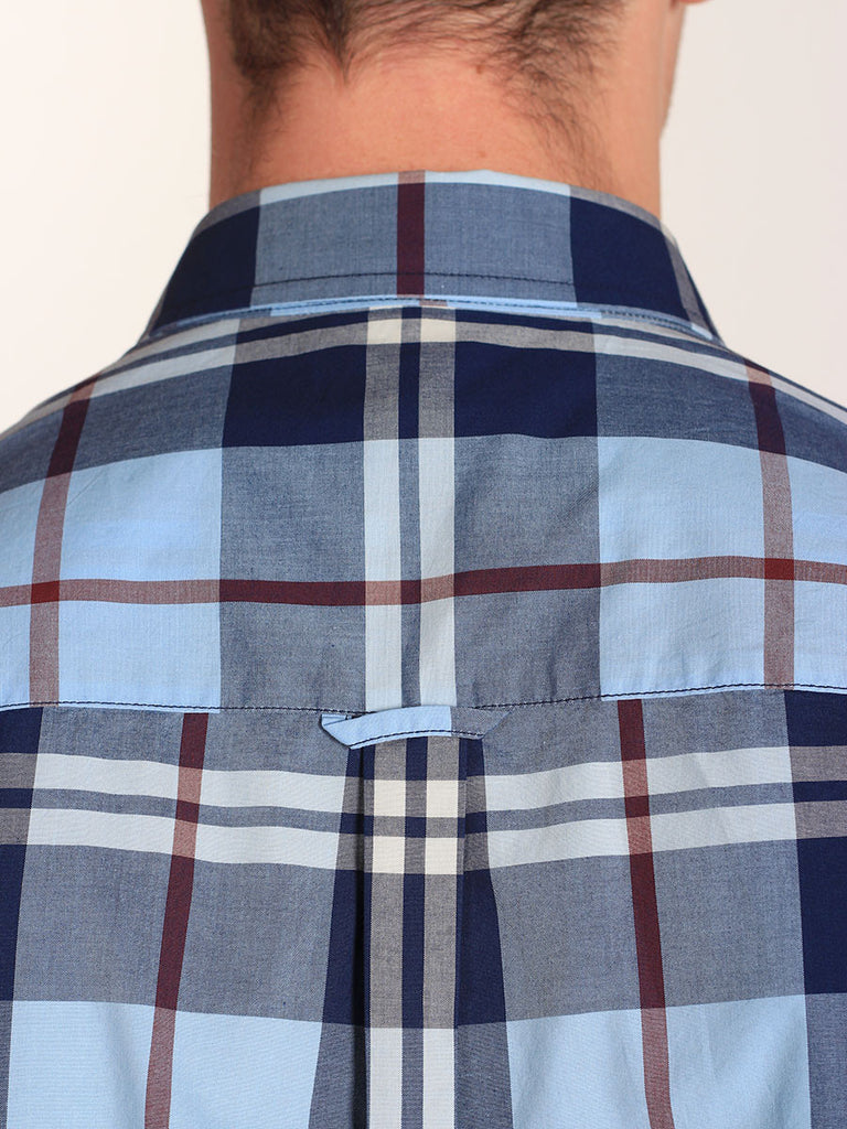 FRED PERRY BOLD CHECK SHIRT IN GLACIER  - 4