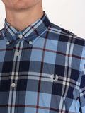 FRED PERRY BOLD CHECK SHIRT IN GLACIER  - 5