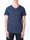 WORKSHOP PREMIUM V-NECK T-SHIRT IN NAVY  - 1