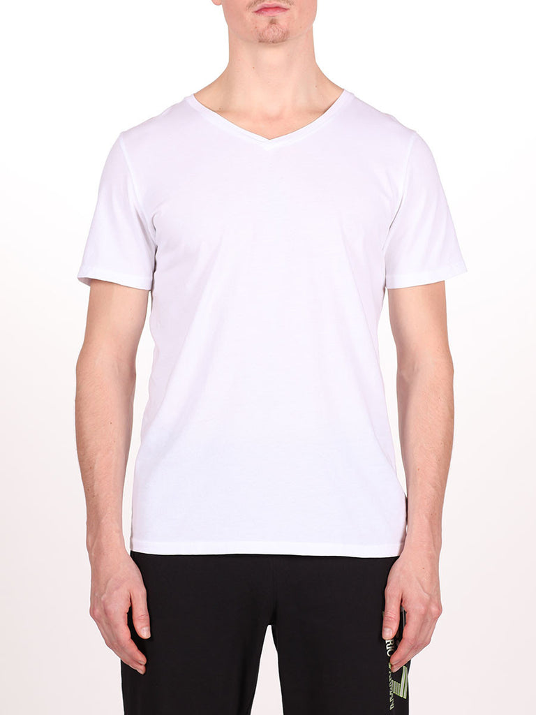 WORKSHOP PREMIUM V-NECK T-SHIRT IN WHITE