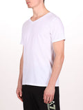 WORKSHOP PREMIUM V-NECK T-SHIRT IN WHITE  - 2