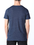 WORKSHOP PREMIUM V-NECK T-SHIRT IN NAVY  - 3