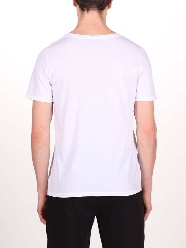 WORKSHOP PREMIUM V-NECK T-SHIRT IN WHITE  - 3