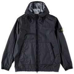 STONE ISLAND MEMBRANA 3L TC HOODED JACKET IN NAVY BLUE