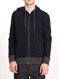 BENSON X WORKSHOP ZIP-UP HOODY IN NAVY  - 1