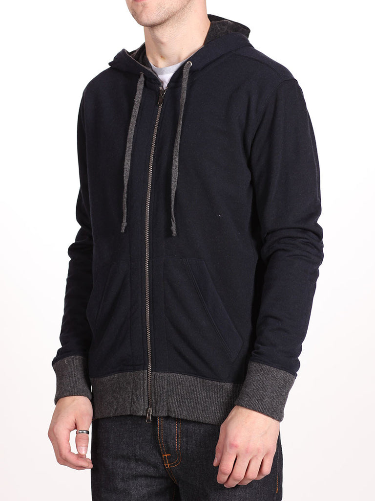 BENSON X WORKSHOP ZIP-UP HOODY IN NAVY  - 2
