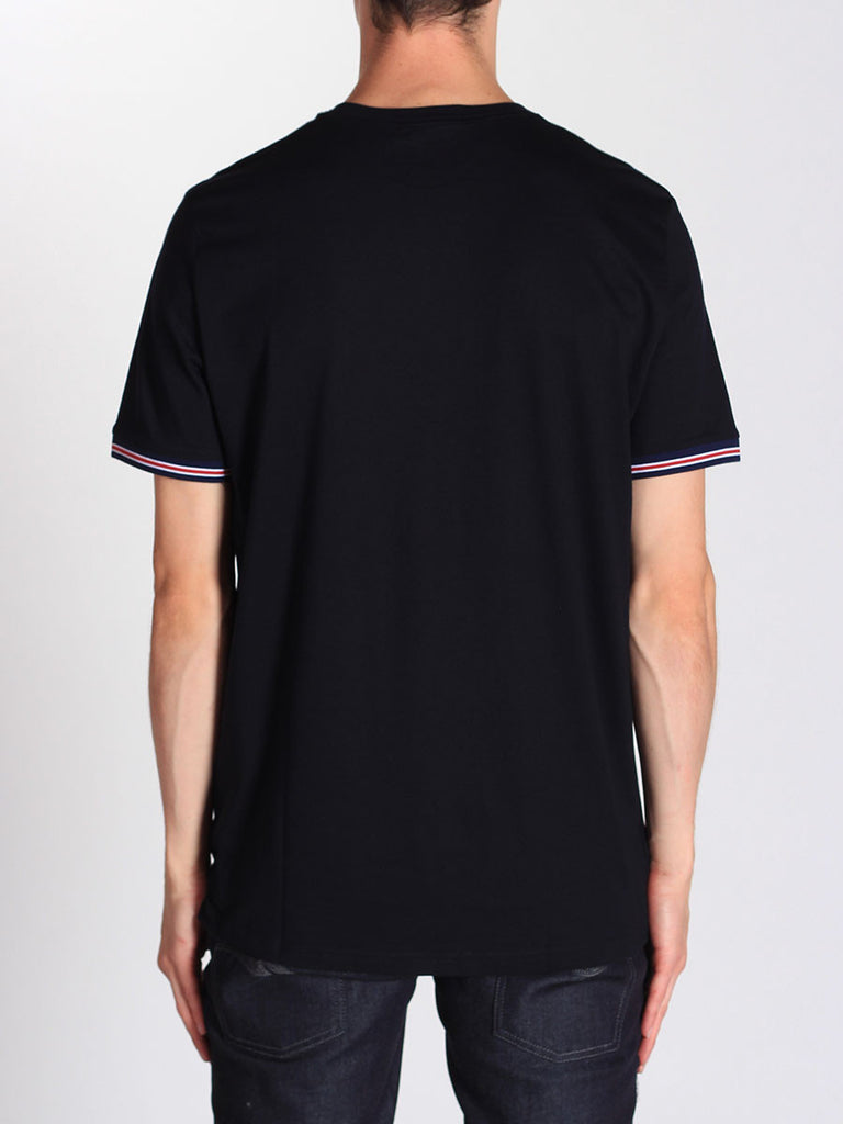 FRED PERRY BOMBER STRIPE CUFF T-SHIRT IN NAVY  - 3