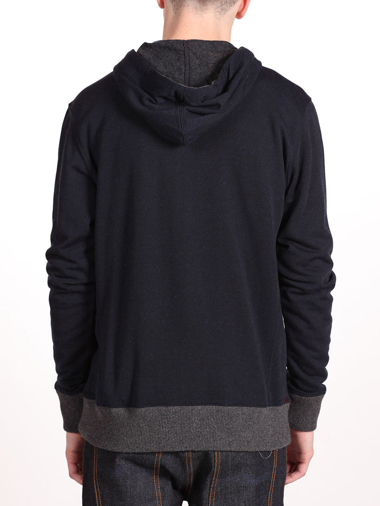 BENSON X WORKSHOP ZIP-UP HOODY IN NAVY  - 3