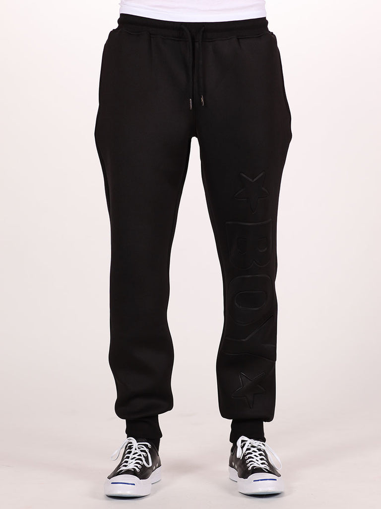 BOY LONDON NEOPRENE SWEATPANTS IN BLACK  - 1