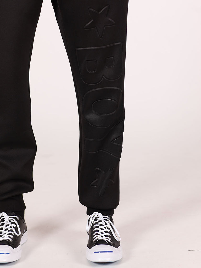 BOY LONDON NEOPRENE SWEATPANTS IN BLACK  - 5