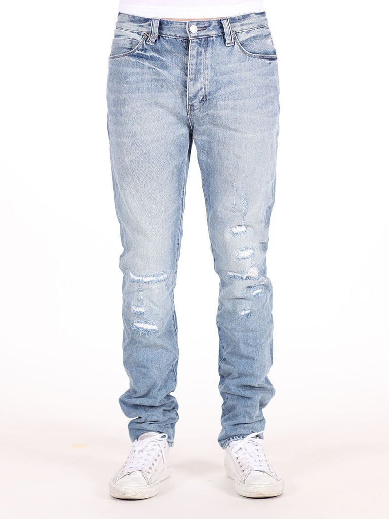 NEUW DENIM RAY TAPERED DISTRESSED JEANS IN BORDERLINE WASH  - 1