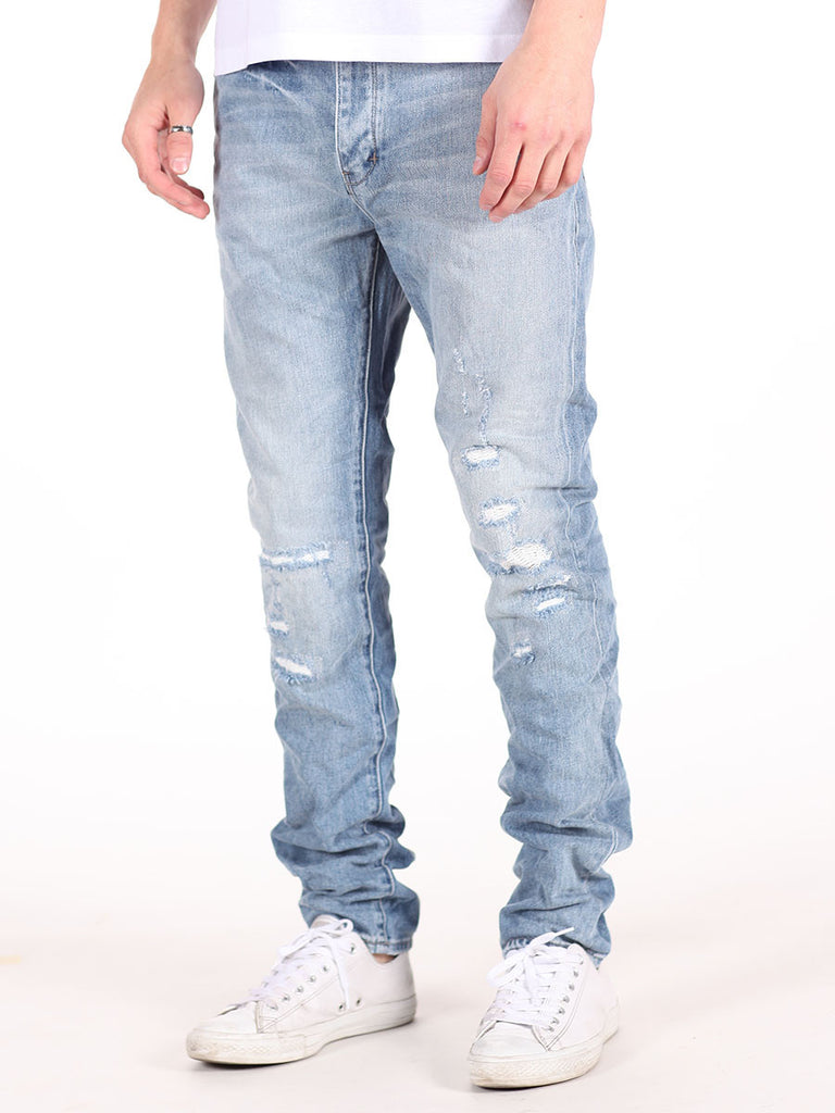 NEUW DENIM RAY TAPERED DISTRESSED JEANS IN BORDERLINE WASH  - 3