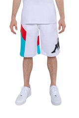 KAPPA AUTHENTIC RACE CIRRY BERMUDA SHORTS IN WHITE