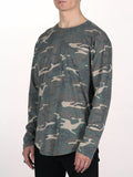 WORKSHOP PREMIUM SCOOP BASEBALL LONGSLEEVE T-SHIRT IN CAMO  - 2