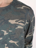 WORKSHOP PREMIUM SCOOP BASEBALL LONGSLEEVE T-SHIRT IN CAMO  - 4