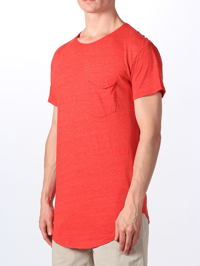 WORKSHOP PREMIUM SCOOP BASEBALL T-SHIRT IN RED  - 2