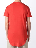 WORKSHOP PREMIUM SCOOP BASEBALL T-SHIRT IN RED  - 3