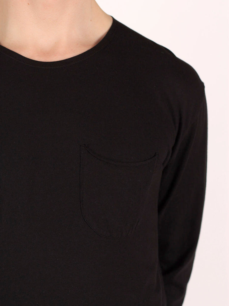 WORKSHOP PREMIUM SCOOP BASEBALL LONGSLEEVE T-SHIRT IN BLACK  - 4