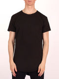 WORKSHOP PREMIUM SCOOP BASEBALL T-SHIRT IN BLACK  - 1