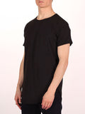 WORKSHOP PREMIUM SCOOP BASEBALL T-SHIRT IN BLACK  - 2