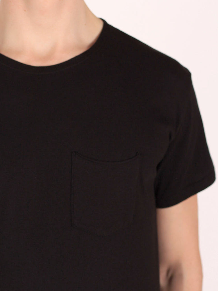 WORKSHOP PREMIUM SCOOP BASEBALL T-SHIRT IN BLACK  - 4