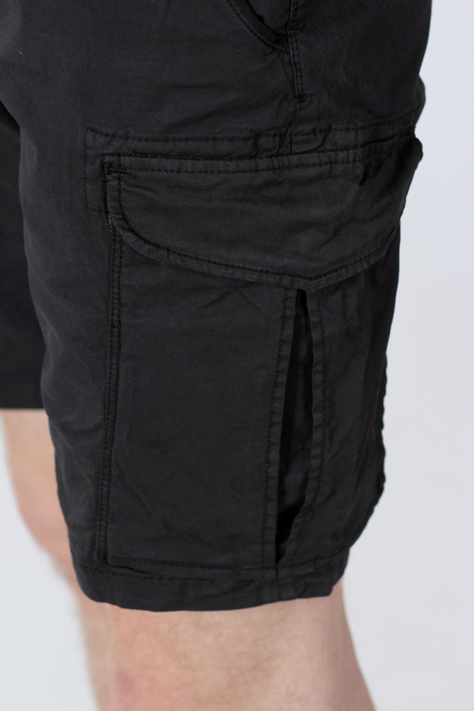 SCOTCH & SODA BASIC CARGO SHORTS IN BLACK  - 6