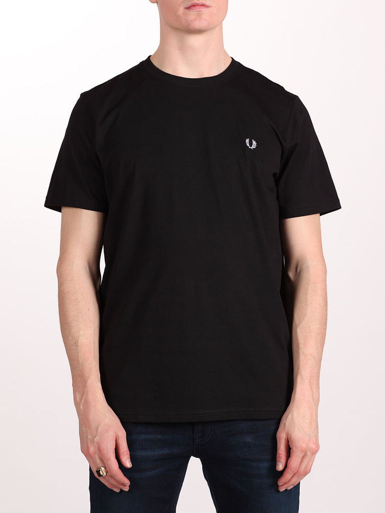 FRED PERRY CREW NECK T-SHIRT IN BLACK  - 1