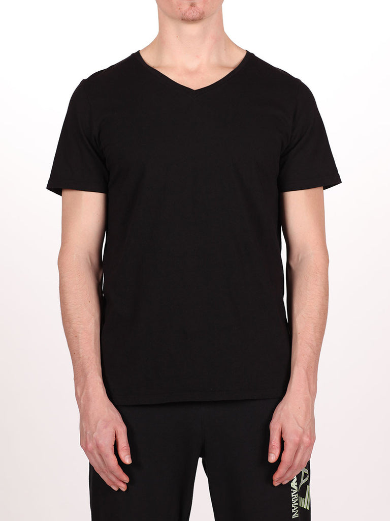 WORKSHOP PREMIUM V-NECK T-SHIRT IN BLACK  - 1