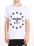 BOY LONDON GLOBE STAR TEE IN WHITE AND BLACK  - 1