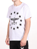 BOY LONDON GLOBE STAR TEE IN WHITE AND BLACK  - 2