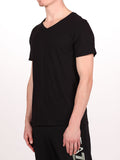 WORKSHOP PREMIUM V-NECK T-SHIRT IN BLACK  - 2