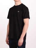 FRED PERRY CREW NECK T-SHIRT IN BLACK  - 2