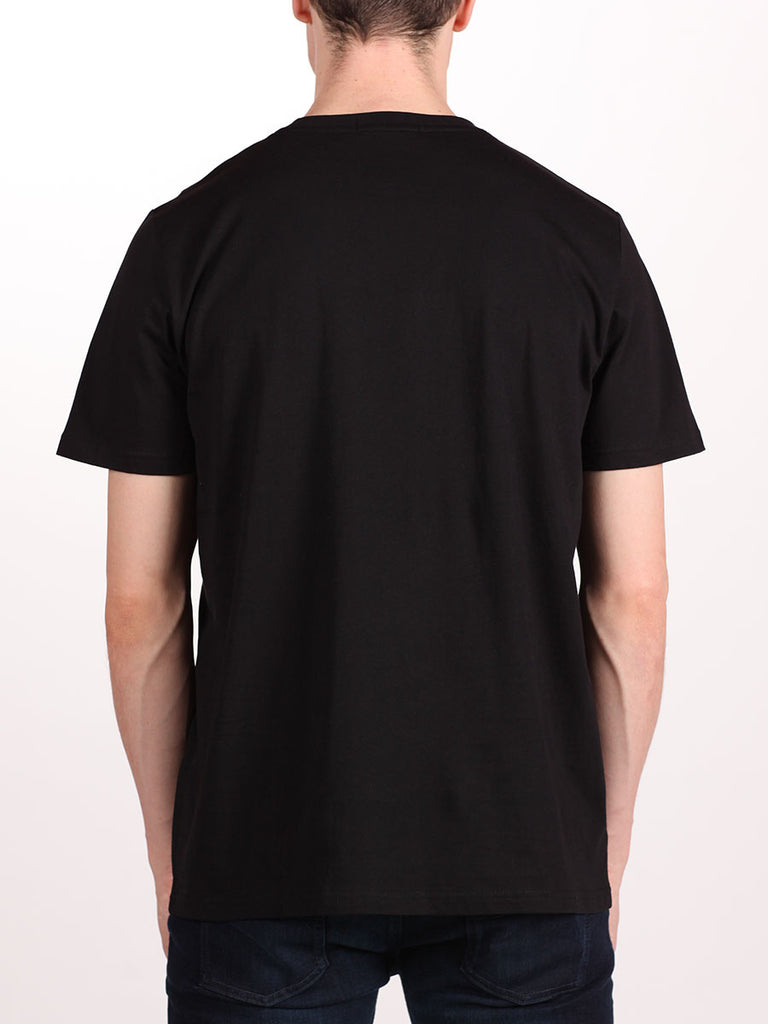 FRED PERRY CREW NECK T-SHIRT IN BLACK  - 3