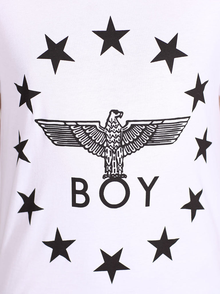 BOY LONDON GLOBE STAR TEE IN WHITE AND BLACK  - 4