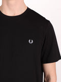 FRED PERRY CREW NECK T-SHIRT IN BLACK  - 4