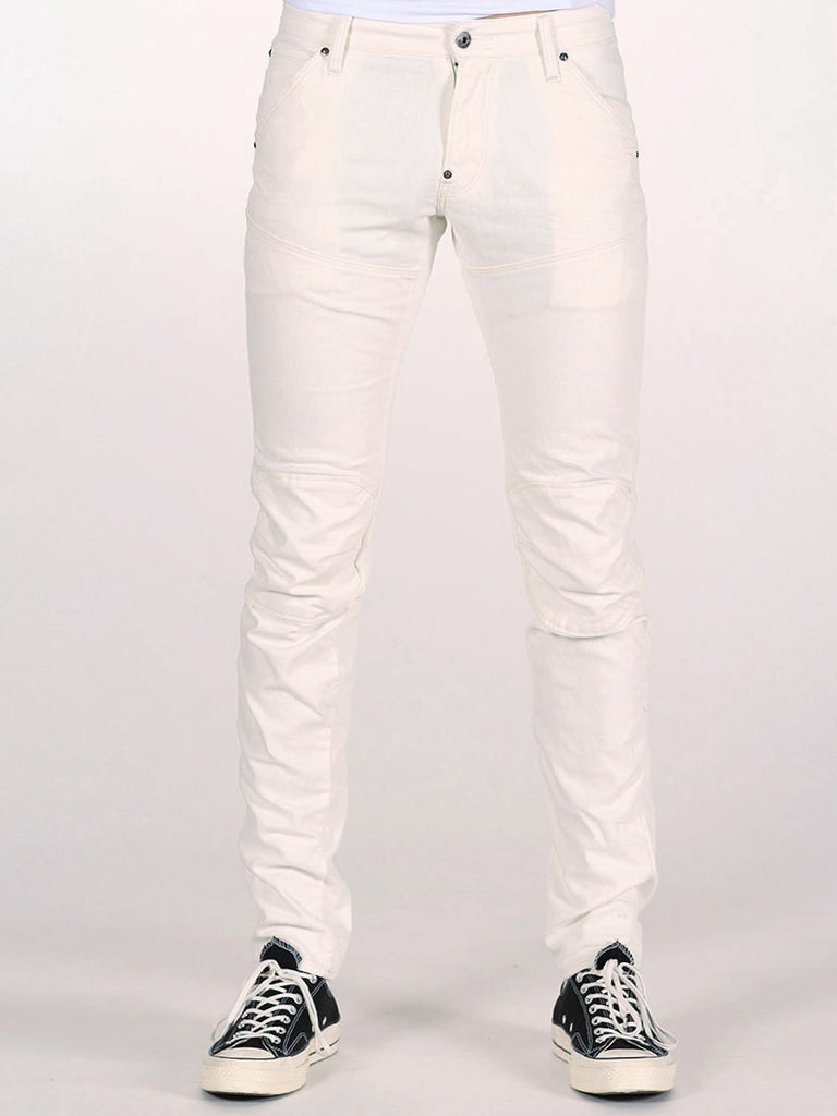 G-STAR ELWOOD 3D SUPER SLIM JEANS IN INZA WHITE  - 1