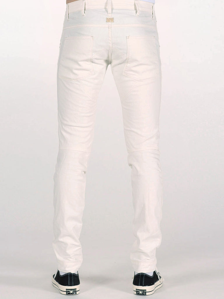 G-STAR ELWOOD 3D SUPER SLIM JEANS IN INZA WHITE  - 3